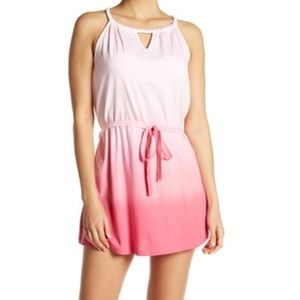 NEW Pink- high neck Letarte cover up